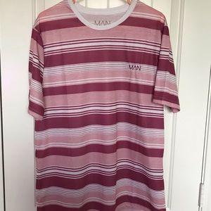 Mens Boohoo striped shirt